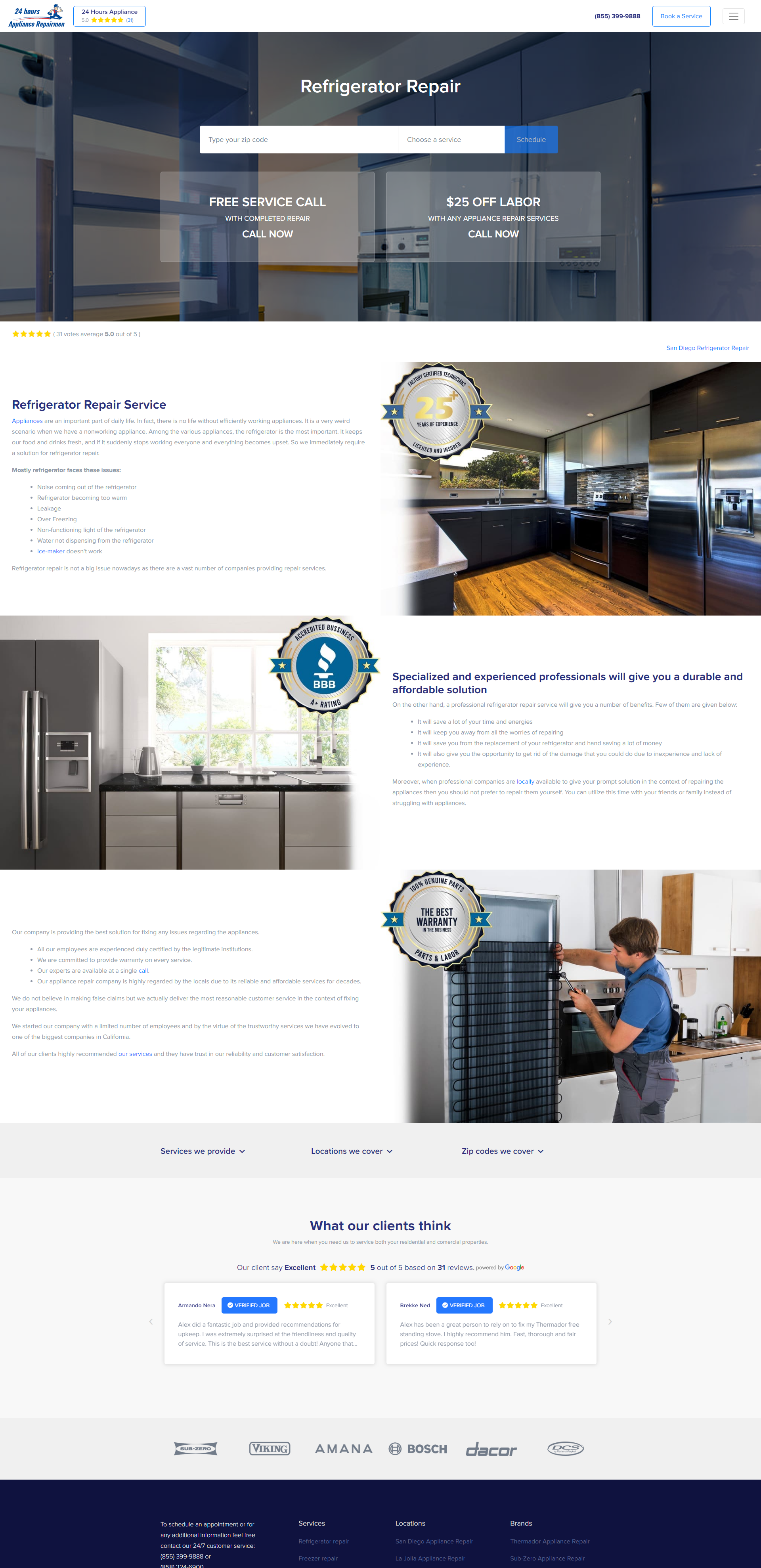Residential & Commercial Appliance Repair Services site